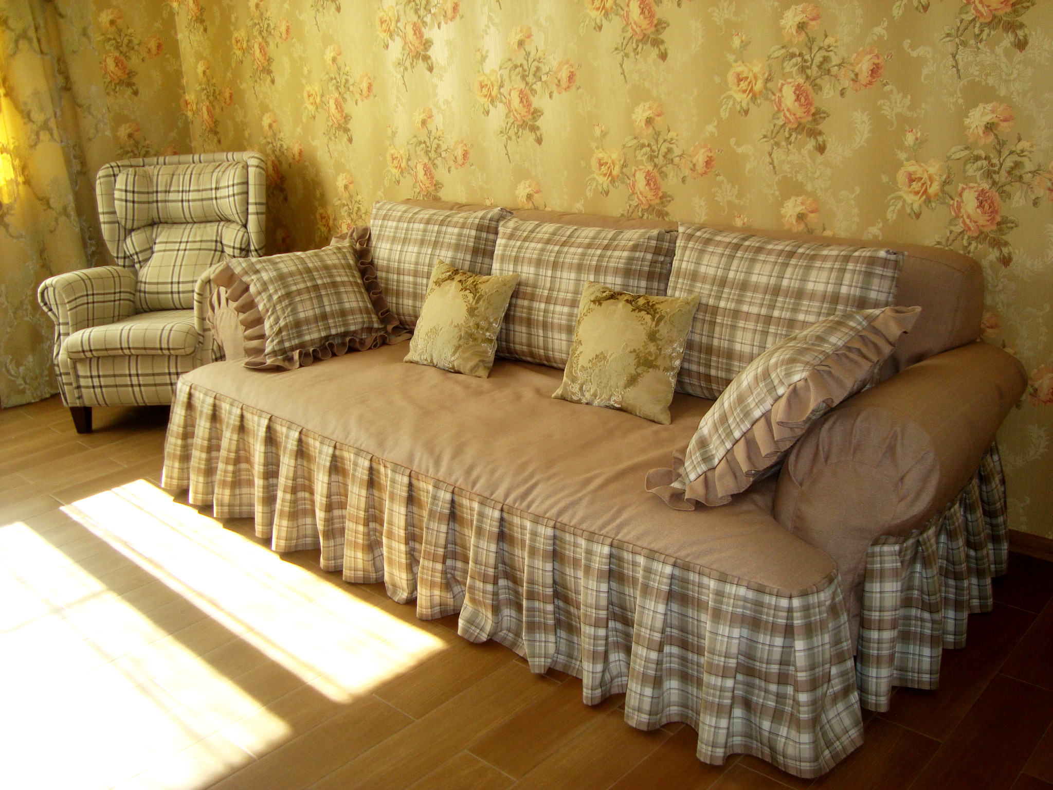 Сшить чехол на диван на заказ